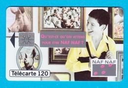 Télécarte 120 Naf Naf Mode Vetements Cochon - France