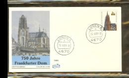 1989 - Deutschland FDC Mi. 1434 (1) - 750 Jahre Dom Frankfurt [PB6_964] - [7] West-Duitsland
