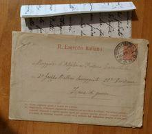 Busta R. Esercito Italiano, Pre Affrancata 10c.  Viaggiata 1915 Contenente Manoscritto. Condizioni Come Da Foto € 2,00 - 1914-18