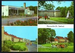 A4593 - Alte MBK Ansichtskarte - Neuhardenberg - Früher Marxwalde Kr. Seelow HO Kaufhalle - Schule - Lehmann - Neuhardenberg