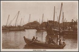 Arab Dhows, Aden, C.1920s - Benghiat RP Postcard - Yemen