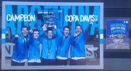 Argentina 2017 ** HB Y Sello. Campeones Copa Davis 2016. TENIS. - Blocchi & Foglietti