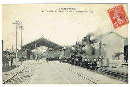ALLIER 03 SAINT GERMAIN DES FOSSES Intérieur De La Gare Bon Plan - France