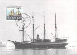 GROENLAND CARTE MAXIMUM  NUM.Yvert 306 BATEAUX VOILIERS - Cartes-Maximum (CM)