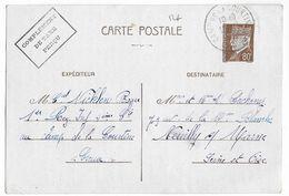 1942 - CARTE ENTIER PETAIN SANS FM Du 1° RI Au CAMP De LA COURTINE (CREUSE) - Marcophilie (Lettres)