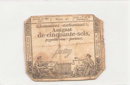 Assignat De Cinquante Sols ( L'an 2 ème De La République ), Série 41 - Assignats
