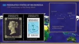 Micronesia 2010 PENNY BLACK 170TH ANNIVERSARY Map Stamp On Stamp I201802 - Micronesië