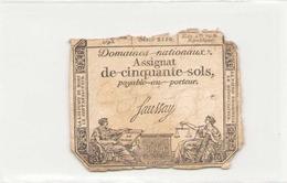 Assignat De Cinquante Sols ( L'an 2 ème De La République ), Série 2110 - Assignats