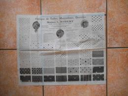 LYON MAISON L. ROBERT 15 RUE DE CONSTANTINE FABRIQUE DE TULLES,MOUSSELINES,DENTELLES - Reclame