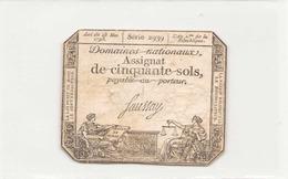 Assignat De Cinquante Sols ( L'an 2 ème De La République ), Série 2939 - Assignats