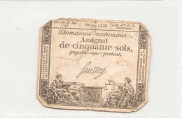 Assignat De Cinquante Sols ( L'an 2 ème De La République ), Série 1538 - Assignats