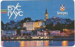 Bus And Tram Ticket Daily Belgrade Serbia 2018. - Bus