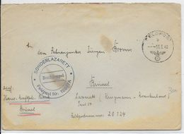 1940 - OCCUPATION ALLEMANDE EN BELGIQUE - ENVELOPPE FELDPOST De BRUXELLES => HOPITAL MILITAIRE SPECIAL à BRUXELLES - WW II