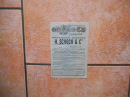 St-GALL SUISSE H. SCHOCH & Cie FABRIQUE DE BRODERIES SUISSES SUCCURSALE A INTERLAKEN,OBERLAND BERNOIS - Werbung