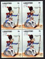 AFRIQUE   LESOTHO   DISNEY    PHILEXFRANCE  1989    BICENTENAIRE DE LA REVOLUTION FRANCAISE   BLOC X 4  Neuf  3s - Lesotho (1966-...)