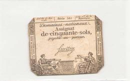 Assignat De Cinquante Sols  L'an 2 ème De La République Série 561 - Assignats