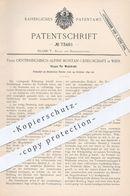 Original Patent - Österreichisch Alpine Montan Ges. Wien , 1892 , Haspel Für Walzdraht | Draht , Drahthaspel , Blech !!! - Historische Dokumente
