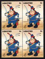 AFRIQUE   LESOTHO   DISNEY    PHILEXFRANCE  1989    BICENTENAIRE DE LA REVOLUTION FRANCAISE   BLOC X 4  Neuf  5s - Lesotho (1966-...)