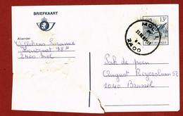 Buzin  Postwaardestuk 13 Fr Beschadigd En Hersteld 2 Scan - Errors And Oddities