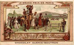 CHROMO CHOCOLAT GUERIN BOUTRON TRADITIONS ET COUTUMES LE GRAND PRIX DE PARIS - Guerin Boutron