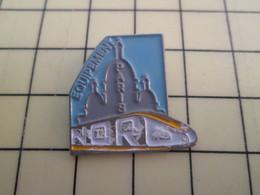 Pin1015b Pin's Pins / Rare Et De Belle Qualité  : TGV : EQUIPEMENT PARIS NORD - TGV