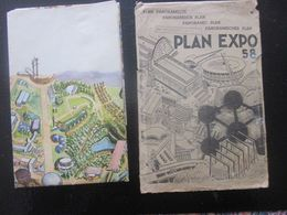 PLAN PANORAMIQUE PANORAMISCH-PANORAMISCHER SUPERBE PLAN CHROMO EXPOSITION UNIVERSELLE DE BRUXELLES 1958 BRUSSELS - Europe