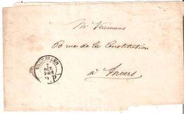 BANDE D'IMPRIMES Oblit. BRUXELLES/P.P. Du 7 Octobre 1850 Vers ANVERS - Belgium
