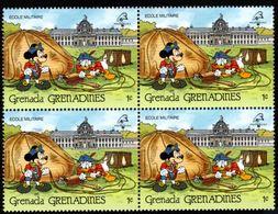 GRENADE  GRENADINES   ST;Vincent  DISNEY  PHILEXFRANCE 1989  BICENTENAIRE DE LA REVOLUTION   Bloc 4 Timbres Neufs - 1 C - Disney