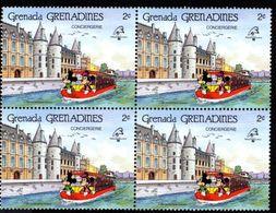 GRENADE  GRENADINES   ST;Vincent  DISNEY  PHILEXFRANCE 1989  BICENTENAIRE DE LA REVOLUTION   Bloc 4 Timbres Neufs - 2 C - Disney