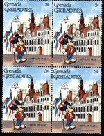 GRENADE  GRENADINES   ST;Vincent  DISNEY  PHILEXFRANCE 1989  BICENTENAIRE DE LA REVOLUTION   Bloc 4 Timbres Neufs - 3 C - Disney
