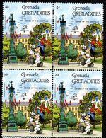 GRENADE  GRENADINES   ST;Vincent  DISNEY  PHILEXFRANCE 1989  BICENTENAIRE DE LA REVOLUTION   Bloc 4 Timbres Neufs - 4 C - Disney