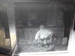 67 - Plaque De Verre -  Scène De Vie - Famille - Enfant - Glasplaten