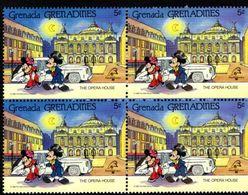 GRENADE  GRENADINES   ST;Vincent  DISNEY  PHILEXFRANCE 1989  BICENTENAIRE DE LA REVOLUTION   Bloc 4 Timbres Neufs - 5 C - Disney