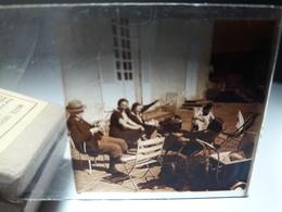 70 - Plaque De Verre -  Scène De Vie - Famille - Enfant - Glasplaten