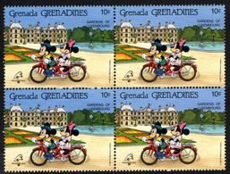 GRENADE  GRENADINES   ST;Vincent  DISNEY  PHILEXFRANCE 1989  BICENTENAIRE DE LA REVOLUTION   Bloc 4 Timbres Neufs - 10 C - Disney