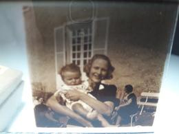 72 - Plaque De Verre -  Scène De Vie - Famille - Enfant - Glasplaten