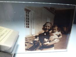 73 - Plaque De Verre -  Scène De Vie - Famille - Enfant - Glasplaten