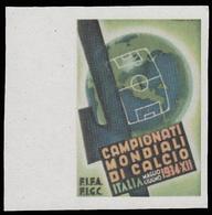 Erinnofilo - Italia Campionati Mondiali Di Calcio (disegno Martinati) (B) - 1934 - Fußball-Weltmeisterschaft