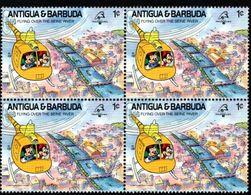 ANTIGUA & BARBUDA    DISNEY   PHILEXFRANCE 1989  BICENTENAIRE DE LA REVOLUTION   Bloc 4 Timbres Neufs - 1 C - Disney