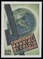Erinnofilo - Italia Campionati Mondiali Di Calcio (disegno Martinati) - 1934 - Fußball-Weltmeisterschaft