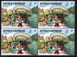 ANTIGUA & BARBUDA    DISNEY   PHILEXFRANCE 1989  BICENTENAIRE DE LA REVOLUTION   Bloc 4 Timbres Neufs - 4 C - Disney