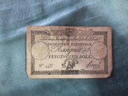 Assignat 25 Sols  1792 - Assignats