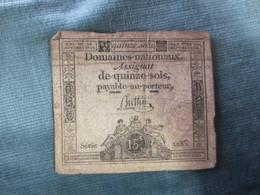 Assignat 15 Sols      1792 - Assignats