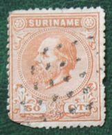 Koningin Willem III 50 Ct NVPH 13 1873-1899 Used / Gestempeld SURINAME / SURINAM - Surinam ... - 1975