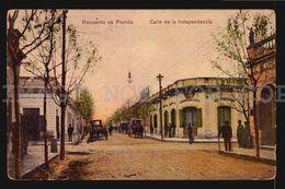 URUGUAY FLORIDA CALLE INDEPENDENCIA CAFE BAR POLICE BONGOLL Tarjetas Postales Original Ca1900 POSTCARD CPA AK (W4-3918) - Uruguay