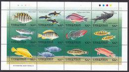 Tanzania, Scott #893, Mint Never Hinged, Fish, Issued 1992 - Tanzania (1964-...)