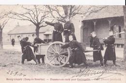 Bourg Léopold Leopoldsburg (Camp De Beverloo) Chasseurs En Route Pour Contrequete - Leopoldsburg (Camp De Beverloo)