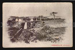 URUGUAY PIRIAPOLIS BRIDGE RAILWAY TRAIN  CA1900 POSTCARD CPA AK (W4-3923) - Uruguay
