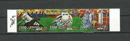 COUPE DU MONDE DE FOOTBALL 98 COLOMBIA 1100 AEREO 3 SE-TENANT MARGE NEUF ** GOMME Q L - World Cup