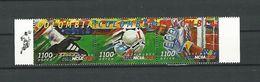 COUPE DU MONDE DE FOOTBALL 98 COLOMBIA 1100 AEREO 3 SE-TENANT MARGE NEUF ** GOMME Q L - Coupe Du Monde